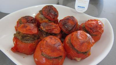 Recette Plat de tomates farcies fait avec l'appareil Philips Airfryer