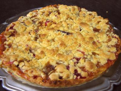 Image : Crumble aux prunes et aux bananes
