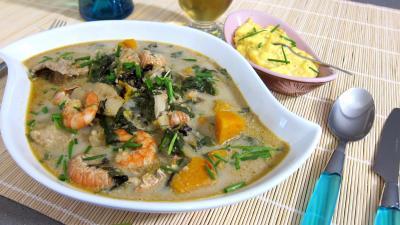 Recette Plat de crustacés et poisson en marmite