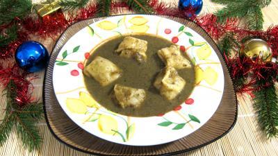 Recette Assiette de capelleti et velouté champignons et laitues
