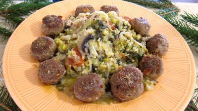 fond de veau : Assiette de quinoa aux poireaux et aux épinards