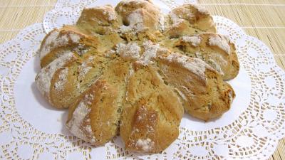 Lait d'amande : Galette de pain au sarrasin