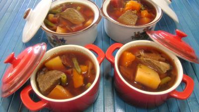 Cuisine diététique : Petite marmite d'autruche en bouillon