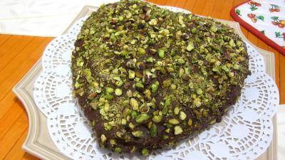 gâteau au chocolat : Plat de tôt-fait au chocolat et aux pistaches
