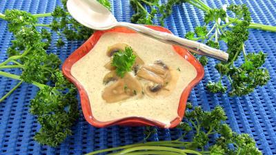 Image : Ramequin de sauce aux champignons