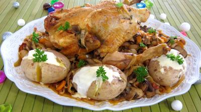 Cuisson à la cocotte : Plat de faisan au chou et aux carottes