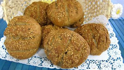 Image : Boules de pain au levain à l'ancienne