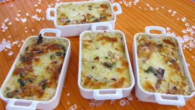 Sauce béchamel : Cassolettes de chou farci