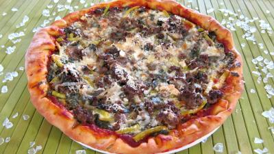 Sauce tomate pour pizza : Assiette de pizza à l'oseille et aux haricots beurre