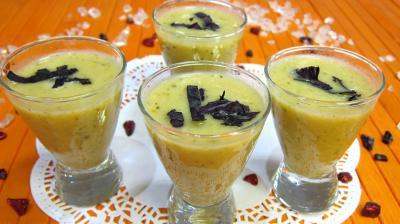 verrines salées : Verrines de crème de courgettes en amuse-bouche