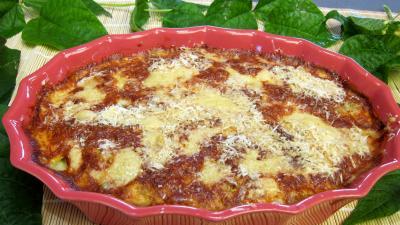 plat complet : Plat d'haricots verts au four gratinés
