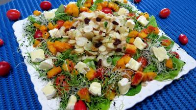Sauce vinaigrette au citron : Assiette de topinambours en salade