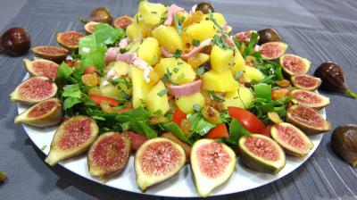 salade : Assiette de salade de figues  l&#39;estragon
