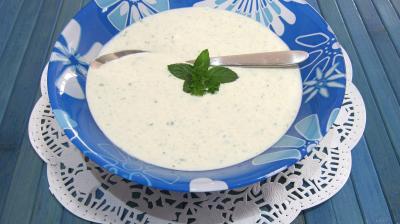 Recette Coupelle de sauce au yaourt au chèvre