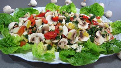Image : Plat de bettes en salade