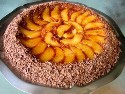 Image : Gâteau aux poires et sa crième au grand Marnier