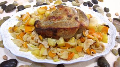 plat complet : Assiette de cul de veau à la Montsoreau