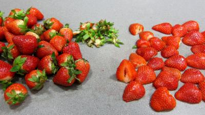 Pain perdu aux fraises et aux pignons - 4.4