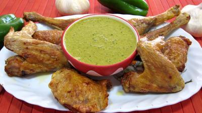 sauce mojo verde et son poulet grillé