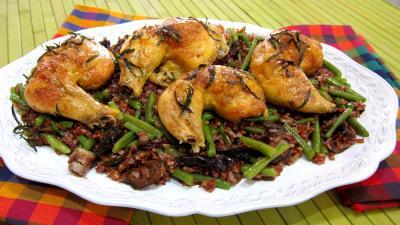 Recette Assiette de cuisses de poulet à l'estragon