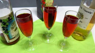 cocktail : Verres de kir au Jurançon
