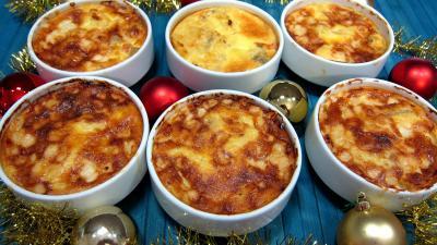 chou chinois pe-tsai : Cassolette de polenta aux fromages de chèvre
