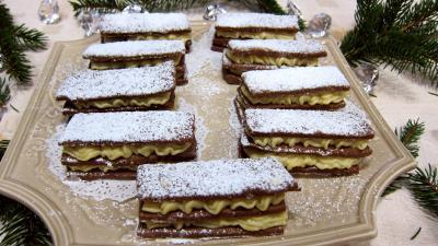 Image : recette Millefeuilles sablés à la crême pâtissière