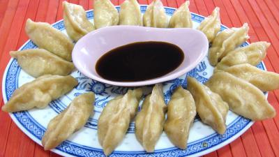 Cuisine chinoise : Assiette de dim sum aux gambas à la farine de froment