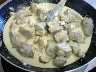 Sauté de porc au brie et aux cèpes - 13.3