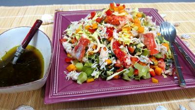Image : Plat de poireaux en salade