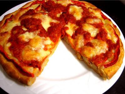 artichaut : Pizza au seigle et sa garniture aux artichauts et mozzarella
