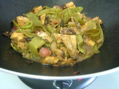 Espadon aux haricots mange-tout façon chinoise - 11.1