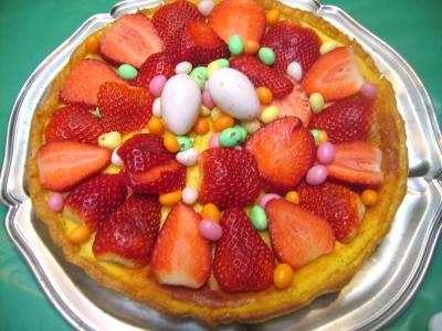 Tarte de Pâques aux fraises et à la brousse - 9.2