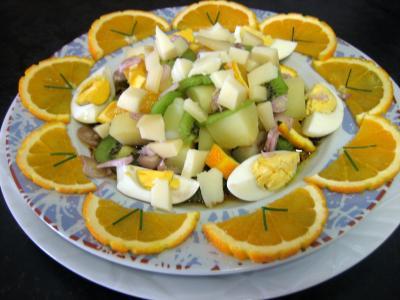 Recette Assiette de salade de kiwis à l'orange