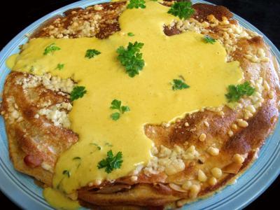 Recette Gâteau de crêpes au sarrasin et aux fromages