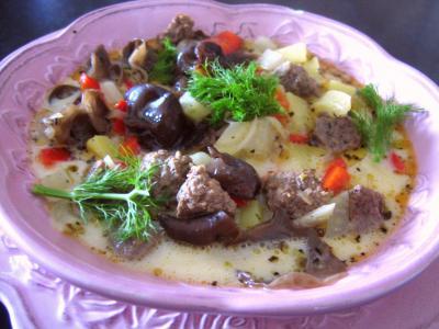 Cuisine diététique : Assiette de potage de fenouil et poivron