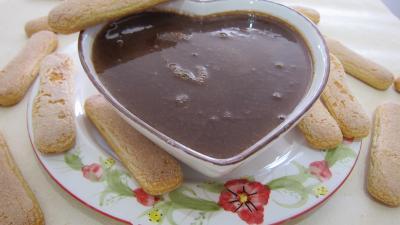 Recette Saladier de crème anglaise au chocolat