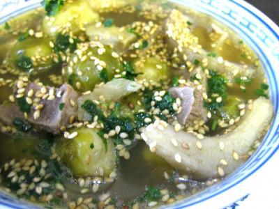 artichaut : Assiette de soupe de magret façon chinoise