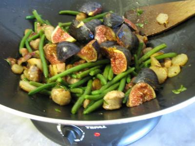 Navets et haricots verts au wok - 9.3