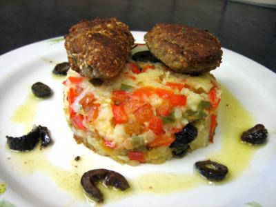 Olive : Croquettes de sardines et purée de légumes
