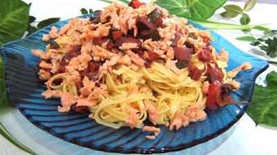 saumon : Assiette de tagliatelle au saumon