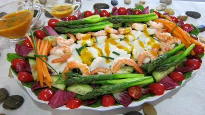 Image : Assiette de noix de saint Jacques en salade