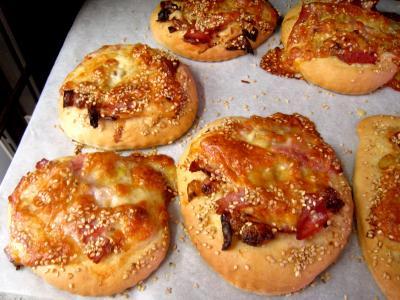 Pizza aux poireaux