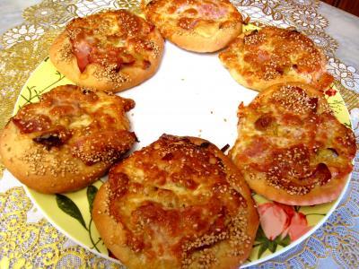 Image : recette Pizza au poireau en amuse-bouche