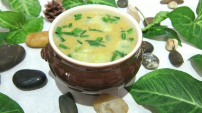 Cuisine diététique : Ramequin de potage de poireaux
