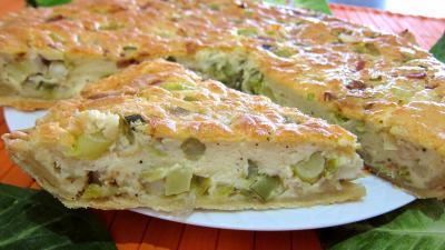 tarte aux poireaux et lardons facile