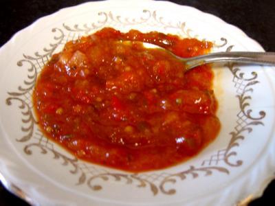 Image : Coupelle de chutney aux poivrons