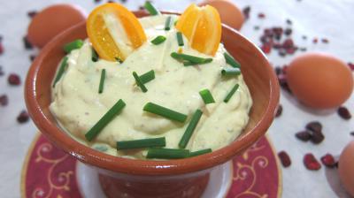 Cuisine diététique : Bol de sauce mayonnaise aux kumquats