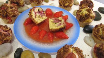 muffins : Muffins aux fraises