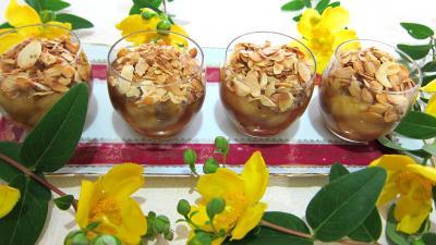Recette Verrines de bananes aux amandes